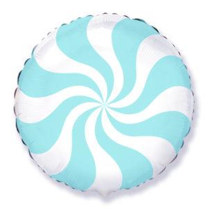 "Воздушный шар-круг, ""Леденец"" голубой 46см"
