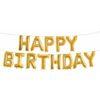 "Шар ""Happy Birthday"", Золото."
