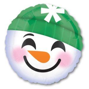 "Воздушный шар ""Улыбка снеговик"" 46 см"